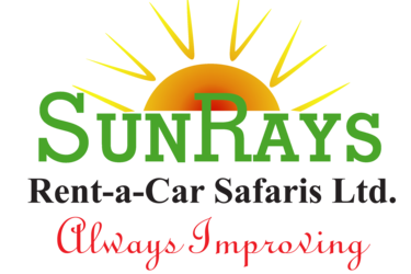 Middle sunrays logo with slogan