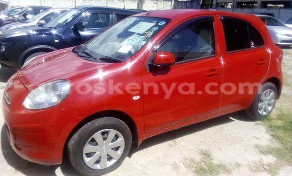Buy Used Nissan March Red Car in Mombasa in Coastal Kenya